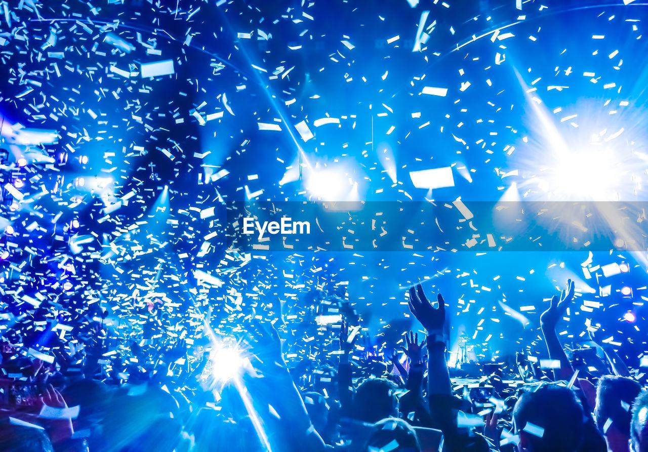 People Enjoying In Music Concert At Night