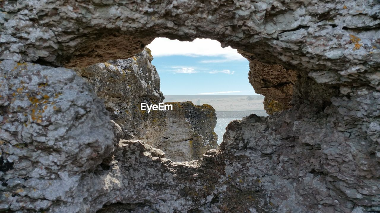 Hole On Rock Formation