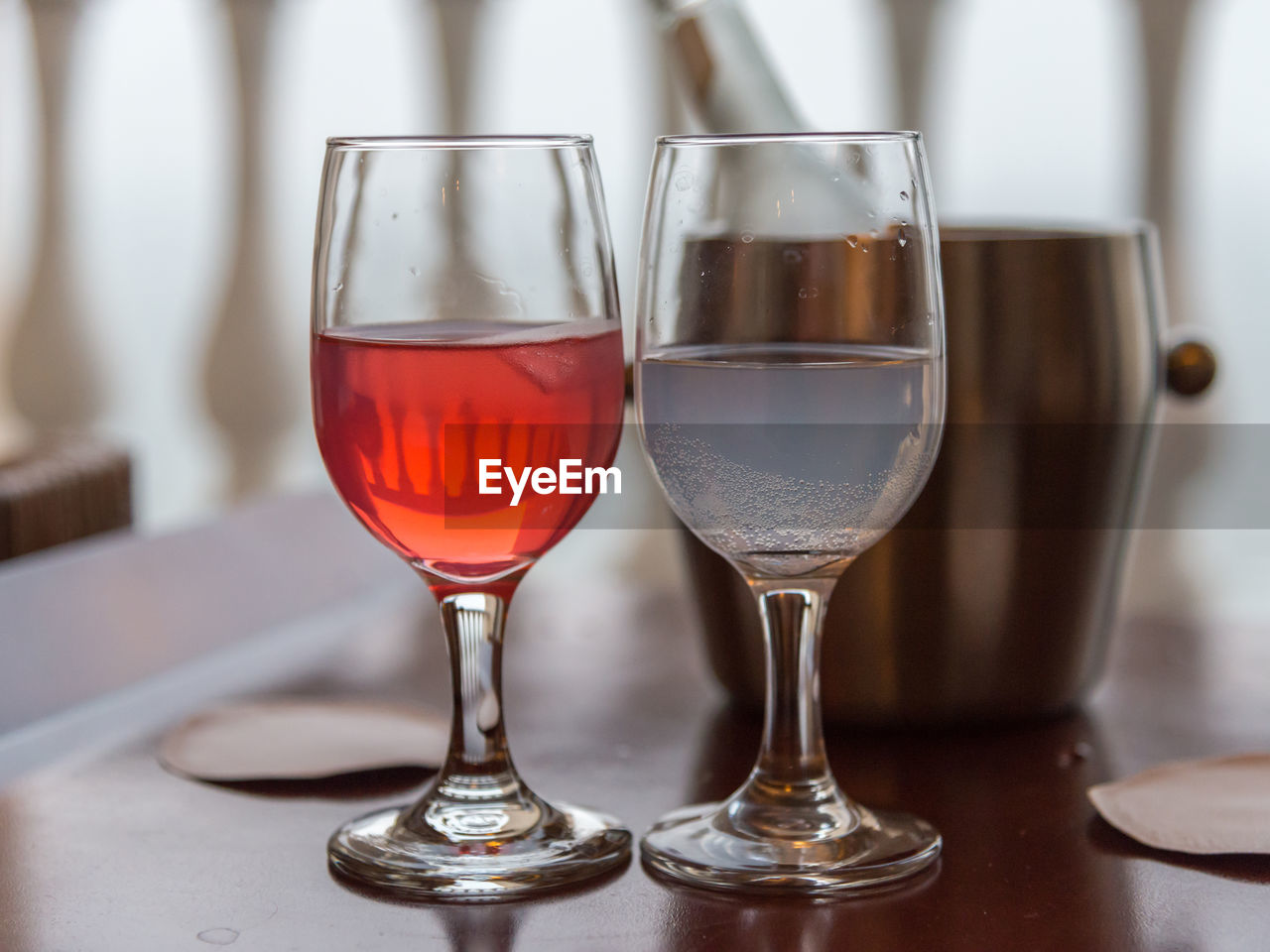 Close-Up Of Wine Served On Table