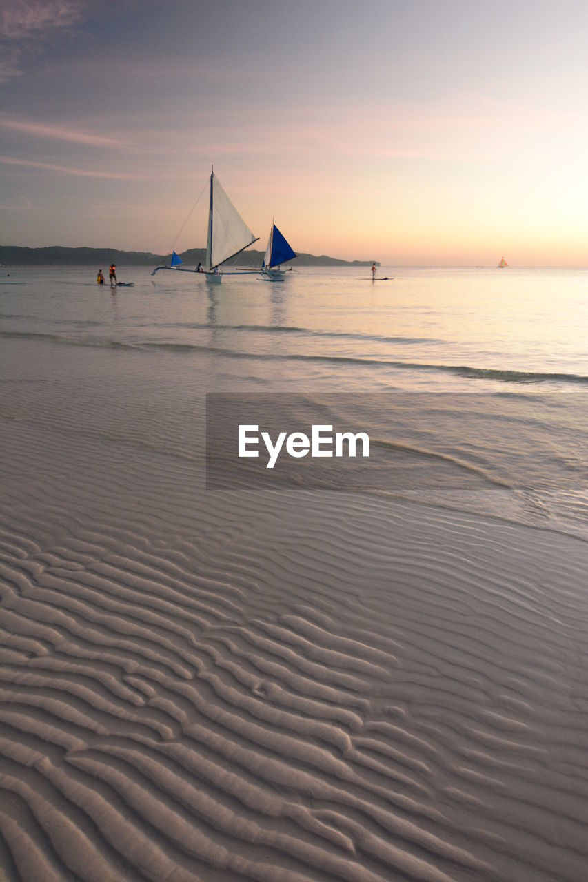Low tide. white beach. boracay island. aklan. western visayas. philippines