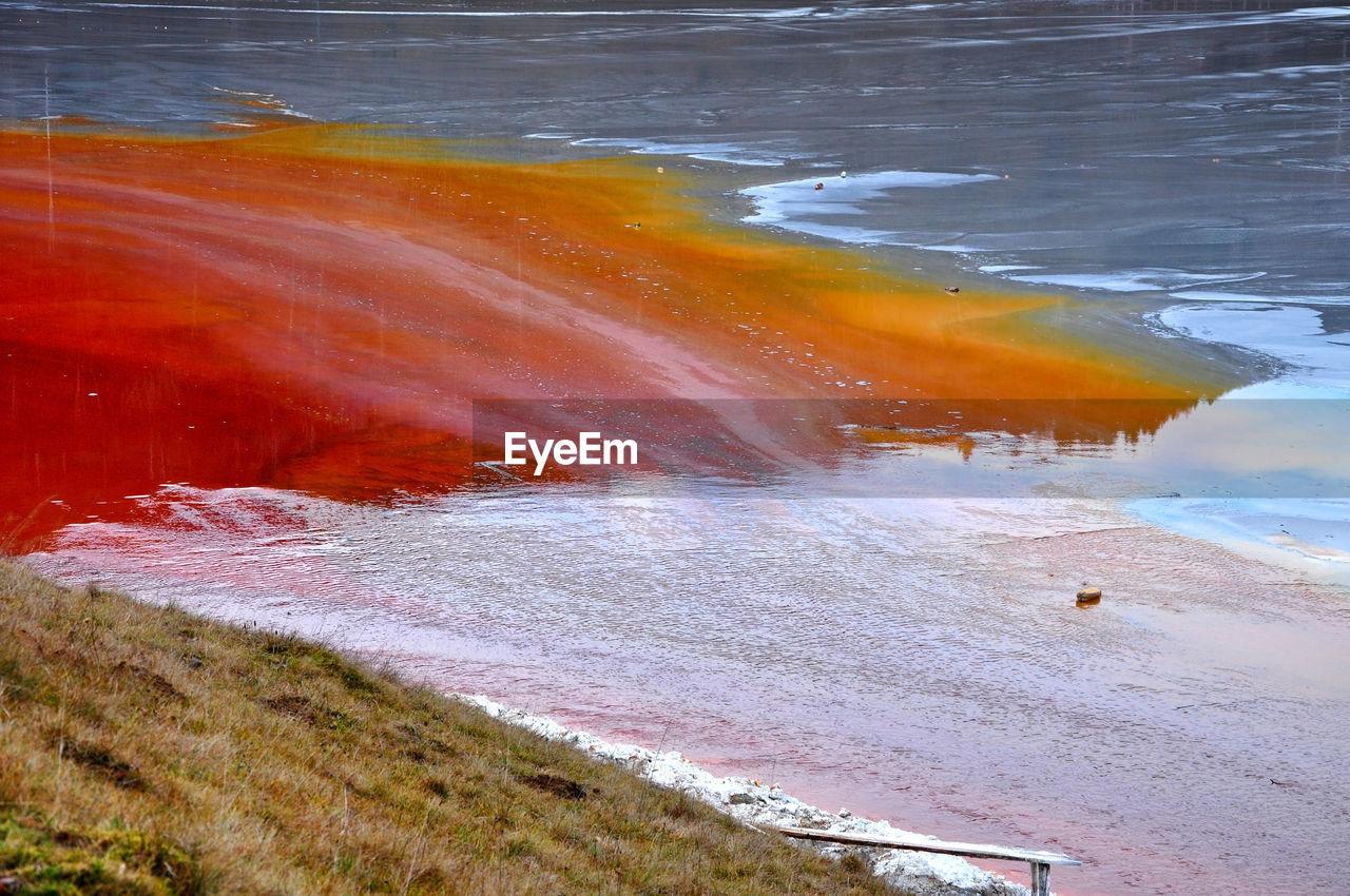Contaminated Water Mixing Into Lake