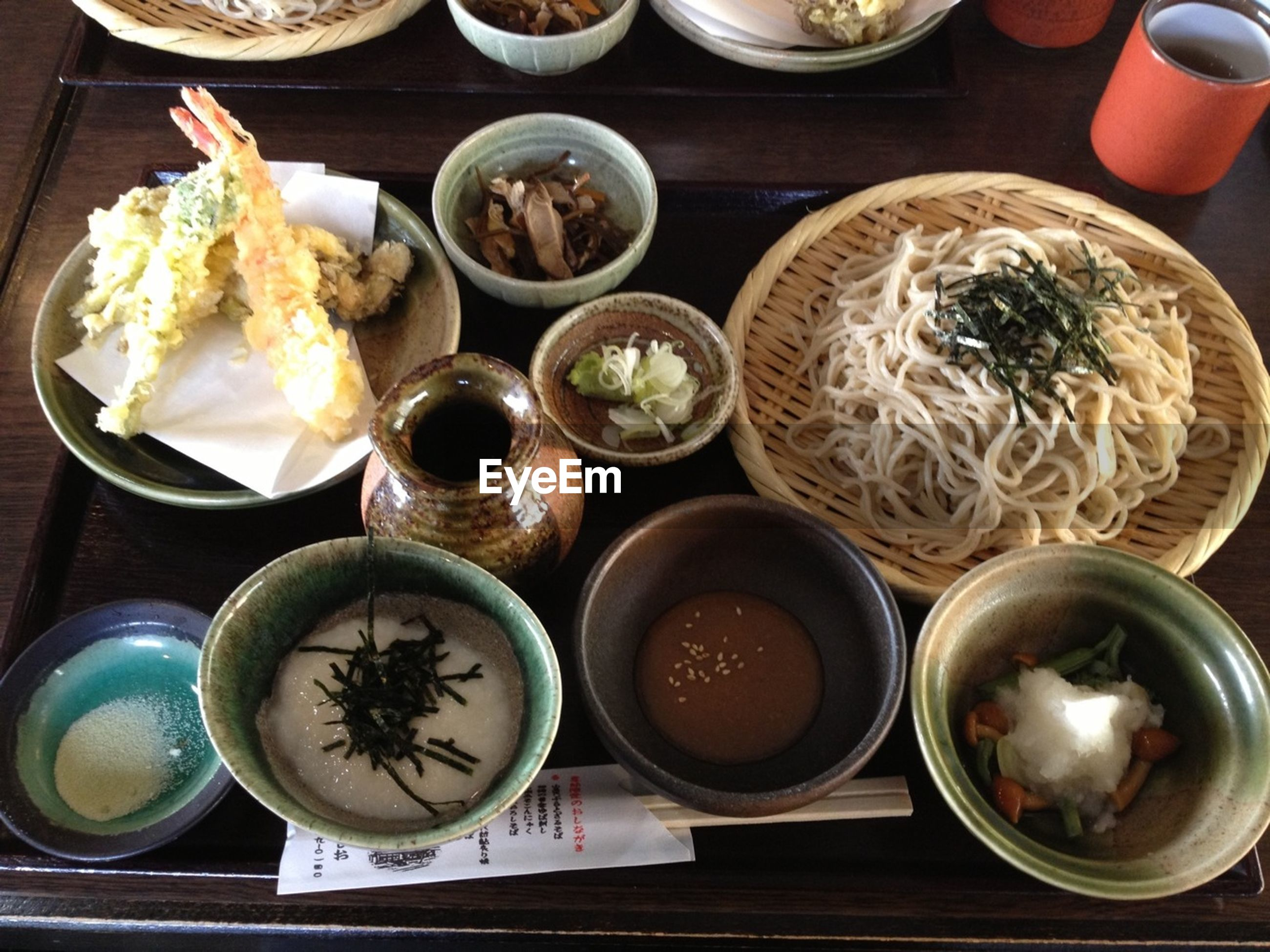 food and drink, food, indoors, freshness, still life, ready-to-eat, table, plate, bowl, healthy eating, high angle view, variation, meal, serving size, seafood, indulgence, rice - food staple, directly above, tray, served