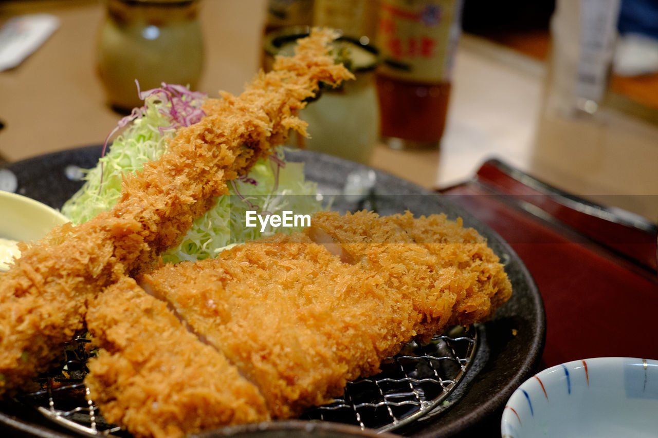 Detail Shot Of Fried Meat