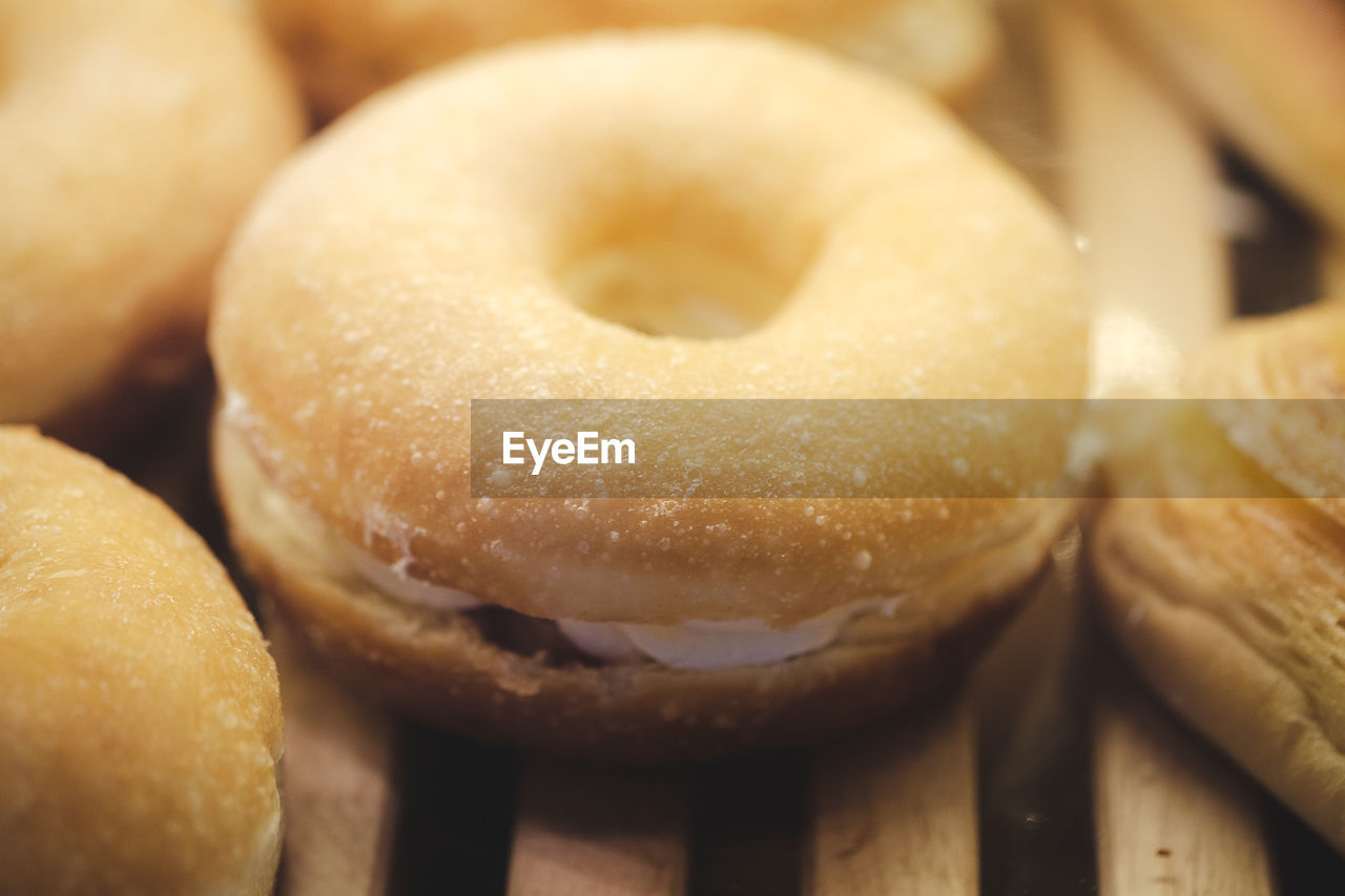 Glazed donuts background image. macro with shallow dof.