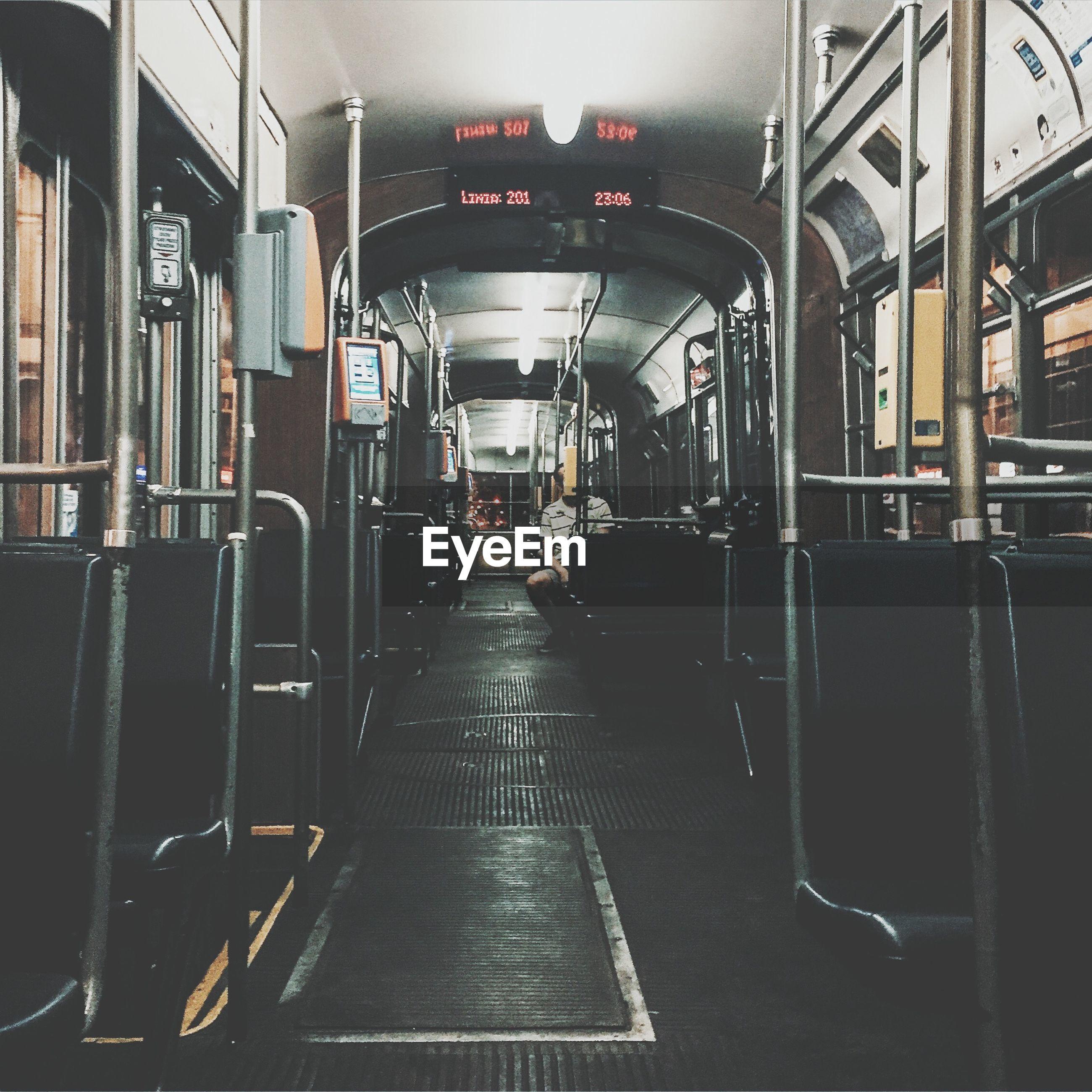 Man sitting in tram