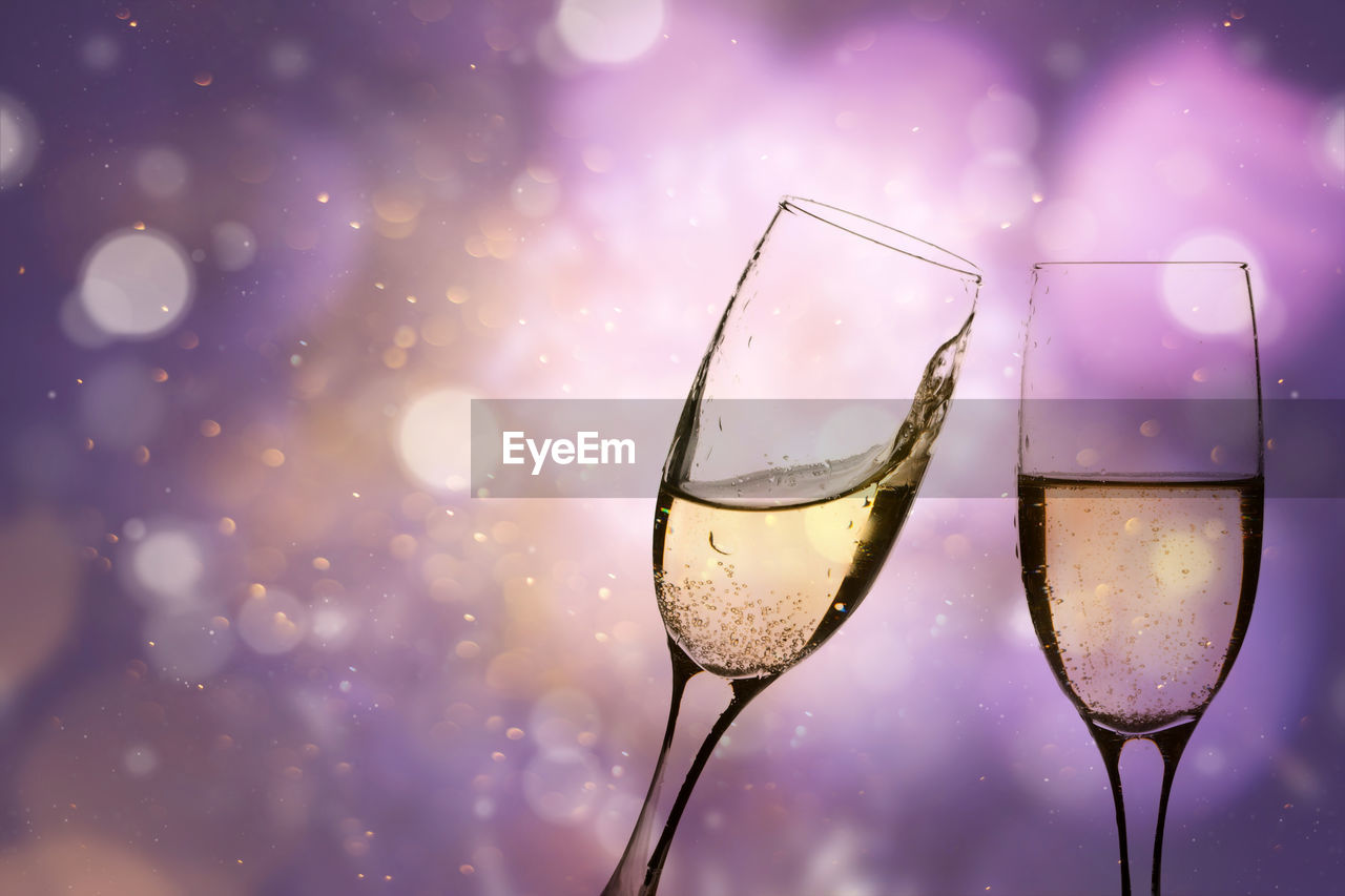 glass, refreshment, drink, glass - material, transparent, wine, alcohol, food and drink, wineglass, no people, household equipment, close-up, drinking glass, focus on foreground, water, reflection, wet, nature, drop, purple