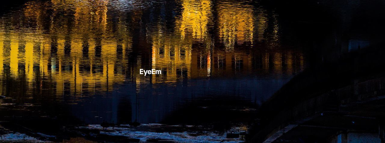 reflection, water, lake, tree, beauty in nature, no people, nature, plant, tranquility, tranquil scene, waterfront, forest, night, scenics - nature, non-urban scene, cold temperature, outdoors, winter