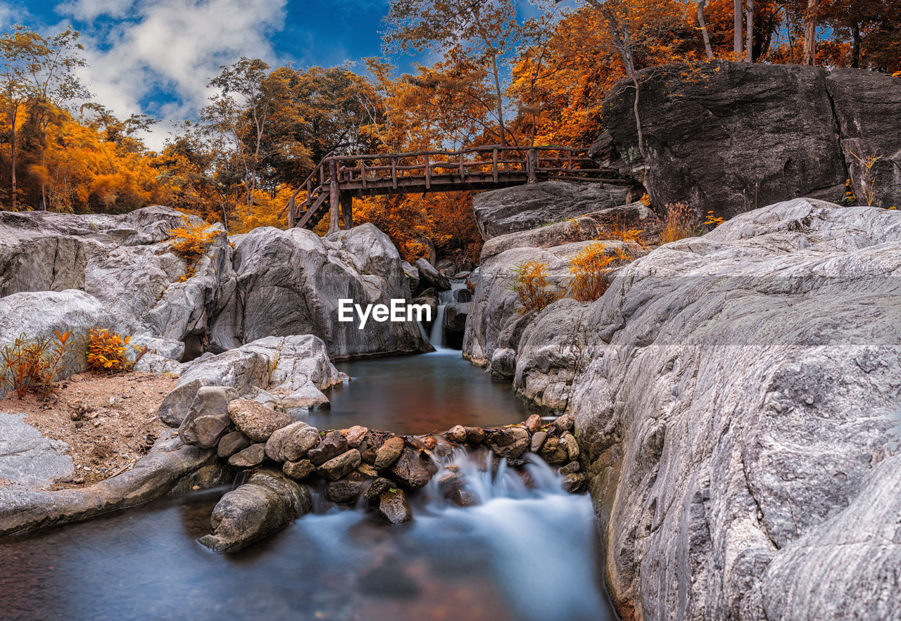 water, rock, beauty in nature, rock - object, scenics - nature, flowing water, solid, nature, long exposure, motion, tree, waterfall, no people, flowing, non-urban scene, plant, day, blurred motion, land, outdoors, stream - flowing water, power in nature