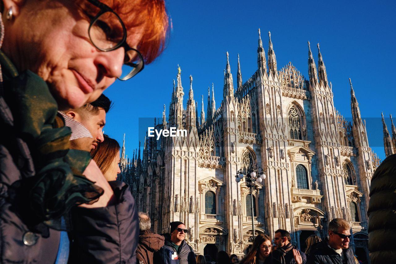 architecture, glasses, building exterior, built structure, eyeglasses, real people, travel destinations, tourism, place of worship, women, lifestyles, men, religion, travel, people, child