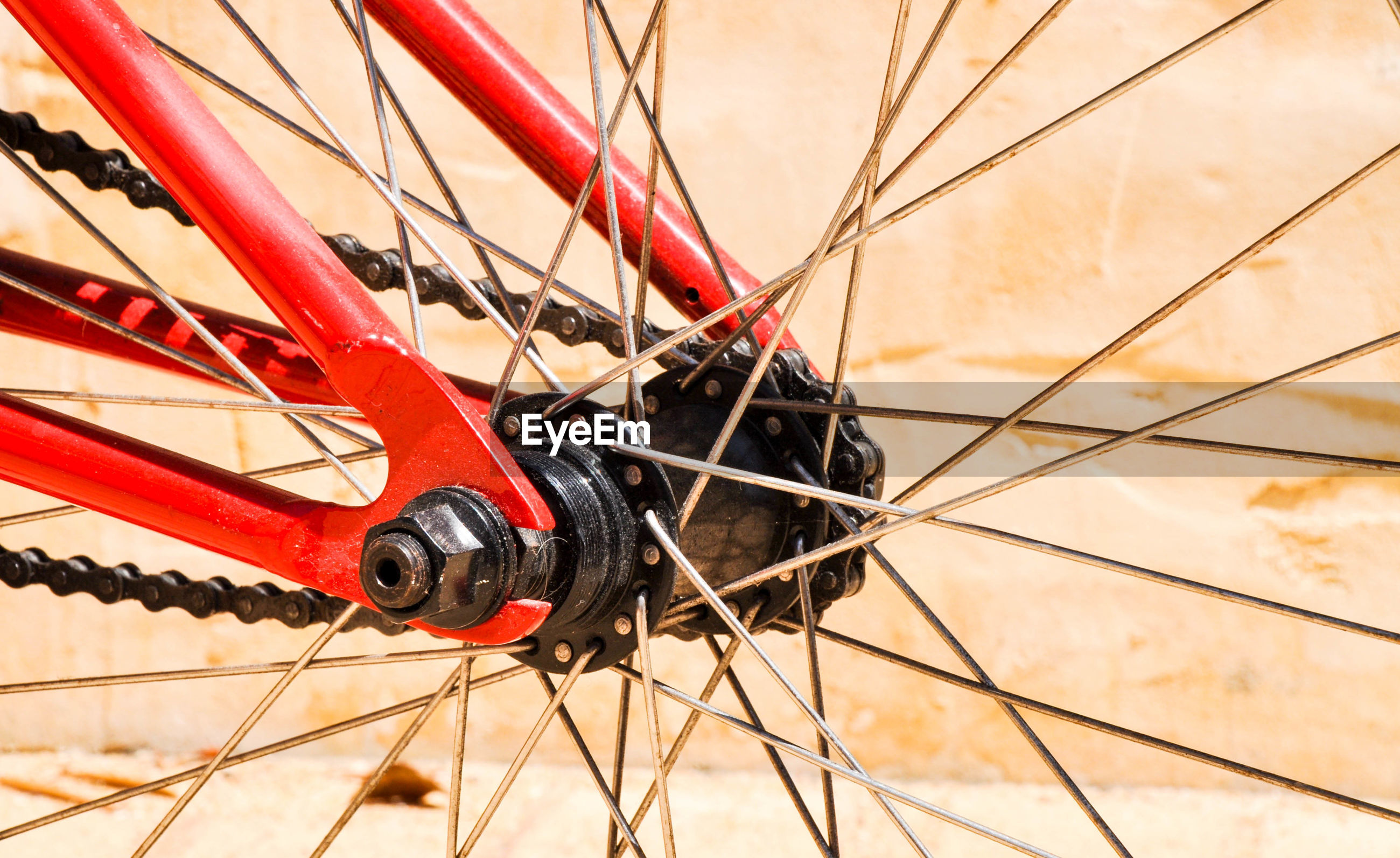 Cropped image of bicycle tire