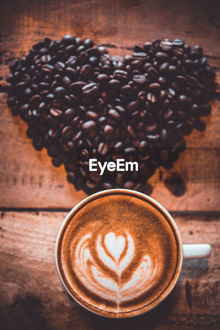 coffee, coffee - drink, drink, food and drink, refreshment, coffee cup, cup, mug, still life, frothy drink, cappuccino, hot drink, freshness, froth art, table, indoors, latte, food, high angle view, brown, no people, crockery, caffeine, froth