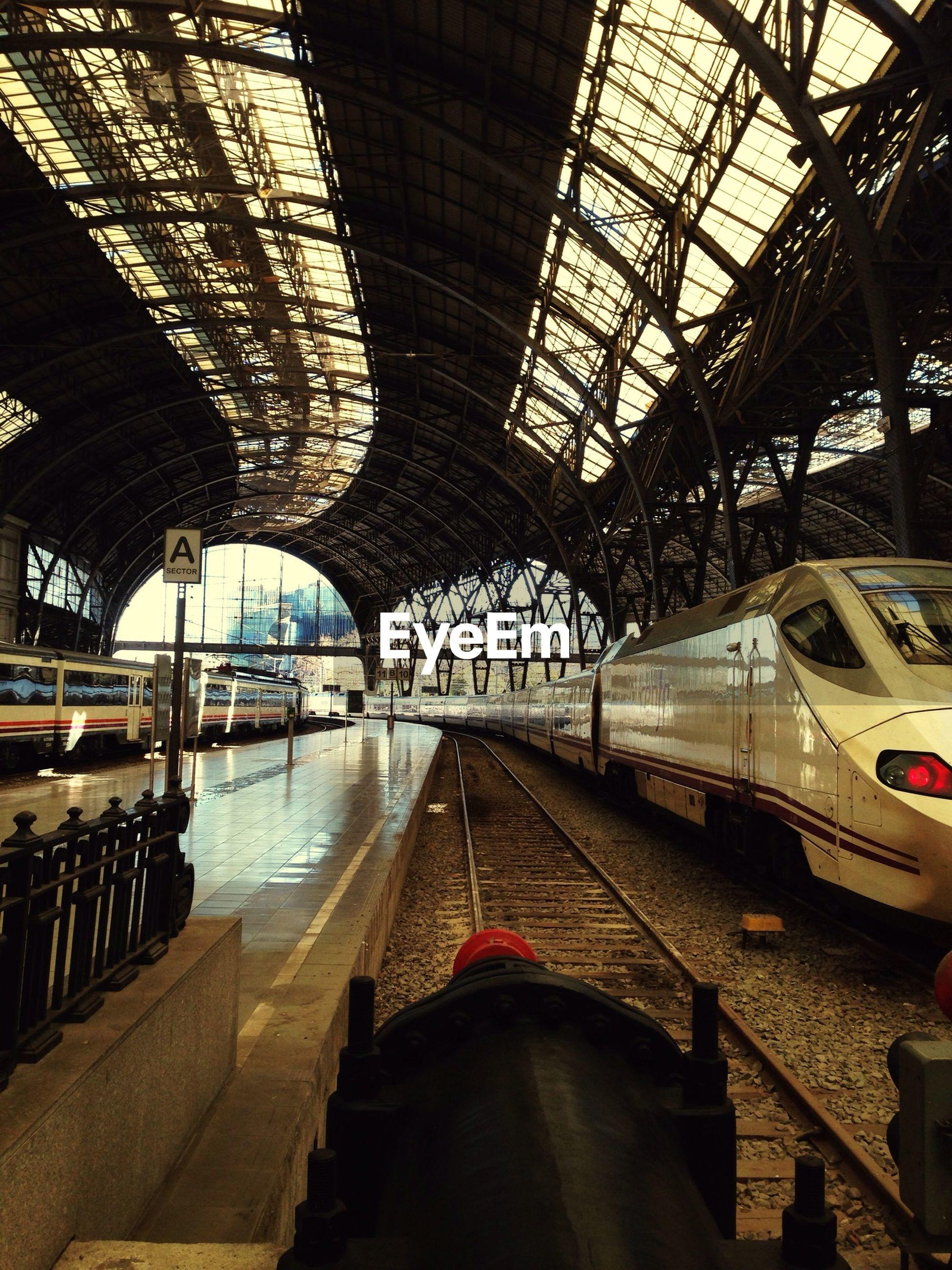 Trains at railroad station