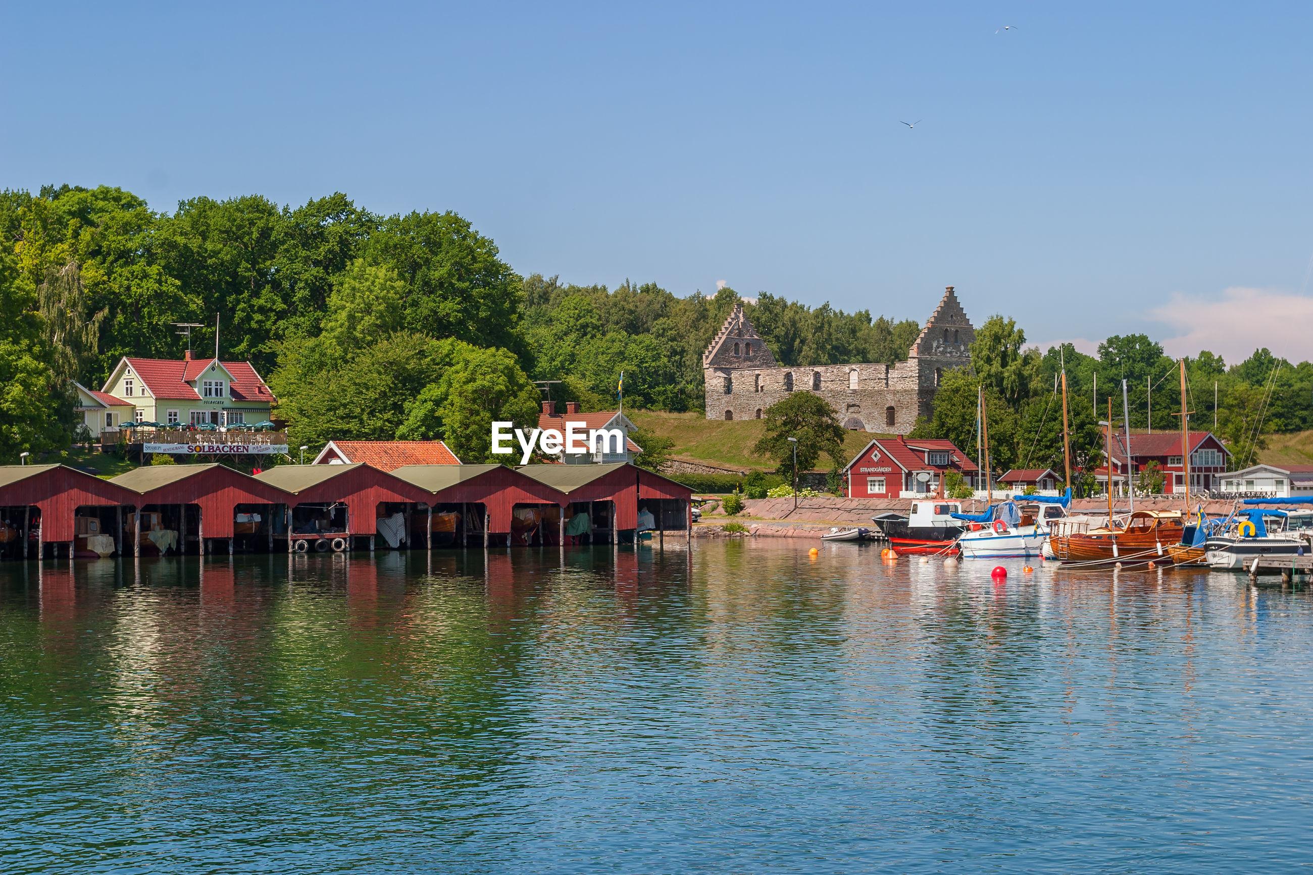 Harbor in visingso island in sweden