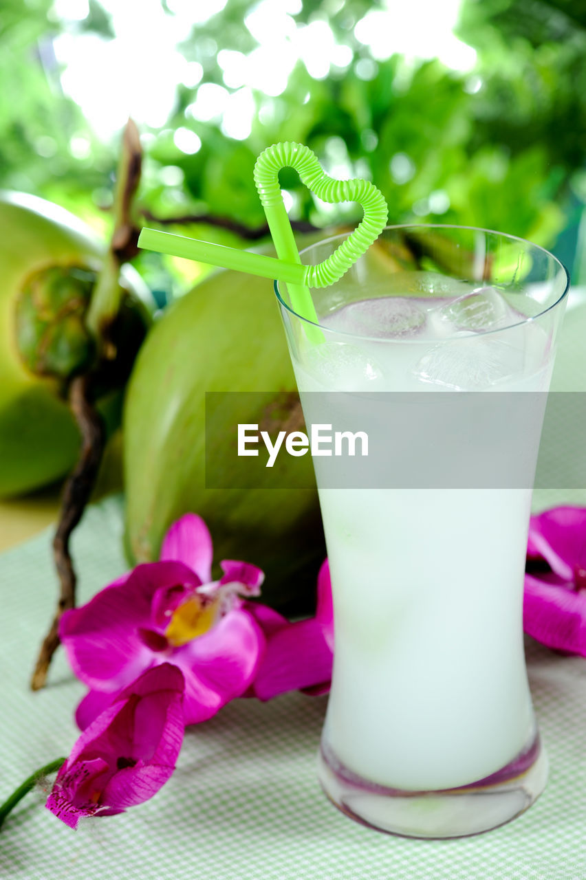 freshness, food and drink, food, close-up, healthy eating, wellbeing, no people, drink, pink color, table, refreshment, still life, fruit, flower, flowering plant, glass, plant, drinking glass, focus on foreground, household equipment, purple