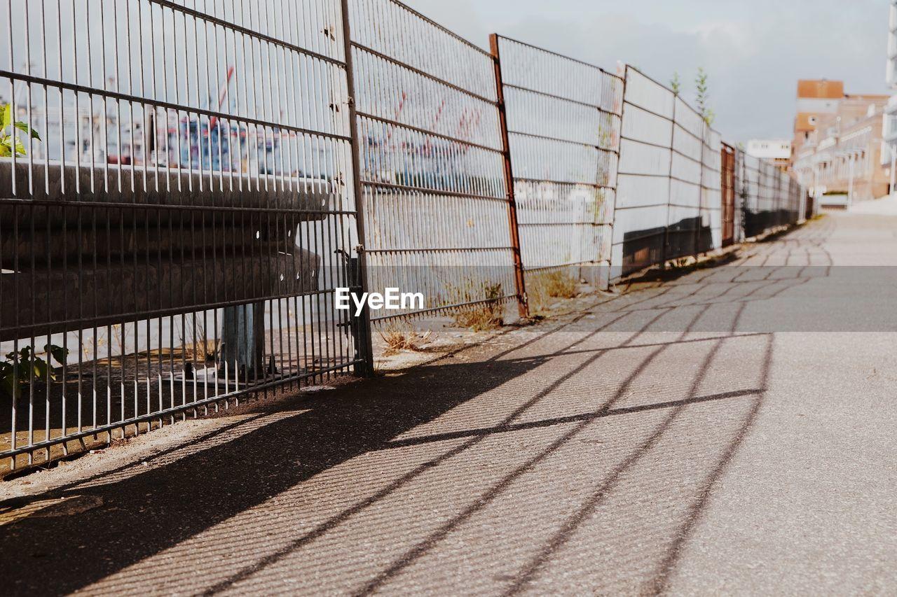 Roadside Fence In City