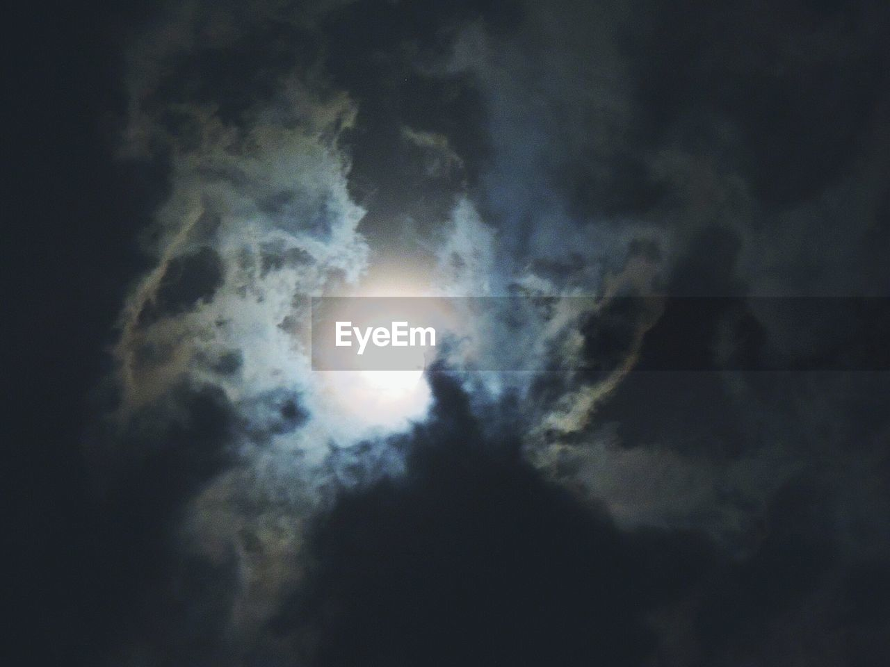 Scenic View Of Sun In Cloudy Sky