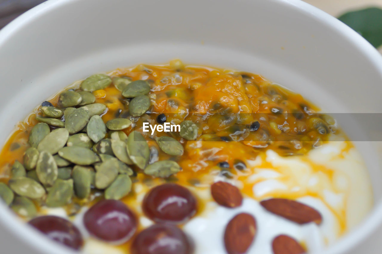 food and drink, food, freshness, healthy eating, wellbeing, bowl, ready-to-eat, close-up, still life, indoors, no people, selective focus, serving size, vegetable, high angle view, meal, indulgence, plate, dairy product, bean, breakfast, garnish, temptation, vegetarian food, snack