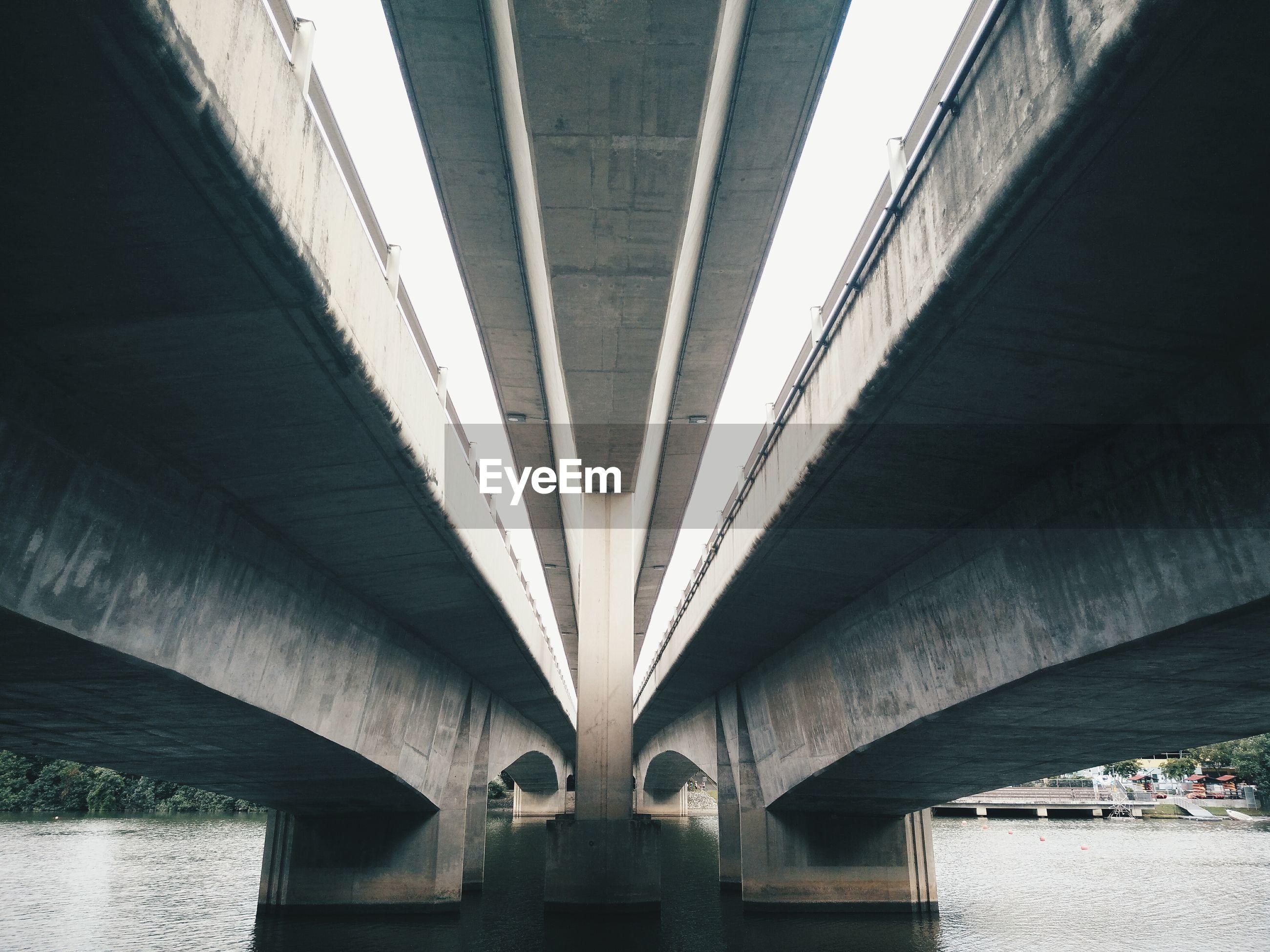 Below view of bridge over river