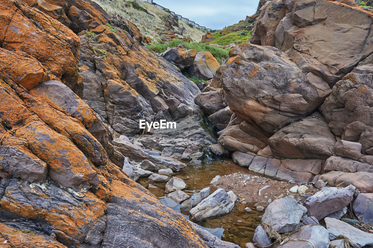 rock - object, rock formation, nature, geology, outdoors, no people, beauty in nature, cliff, landscape, scenics, day, mountain, sky