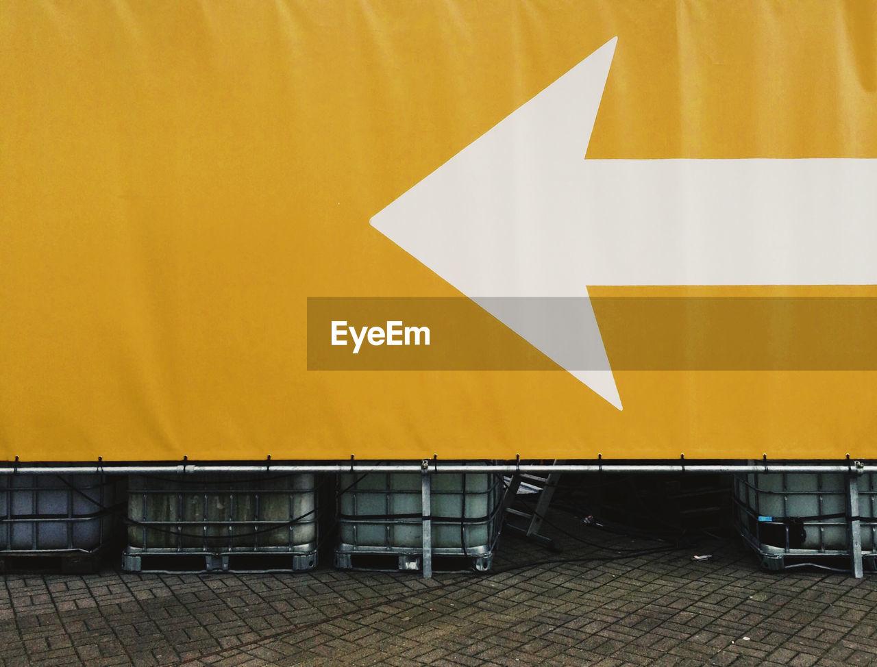 Close-Up Of Arrow Symbol