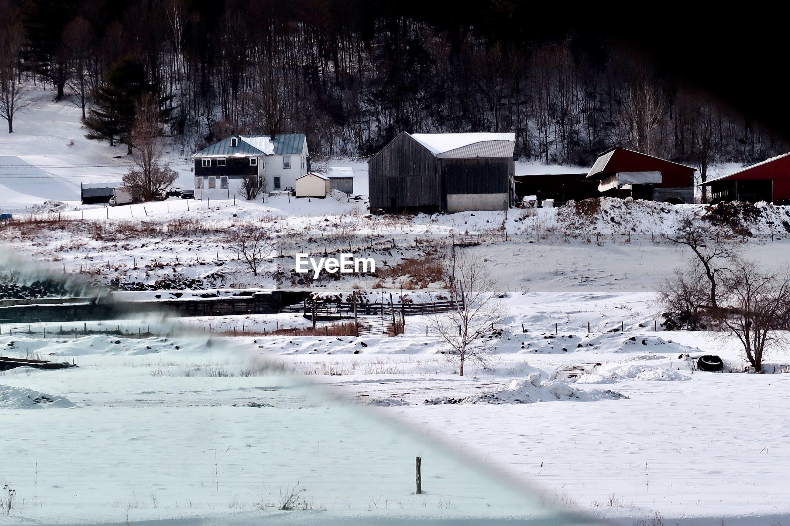 Farmland in winter from my car