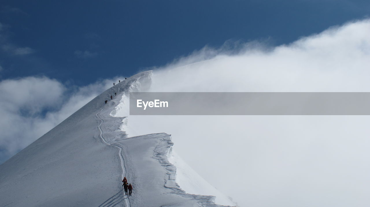 Scenic View Of Snow Capped Mountain