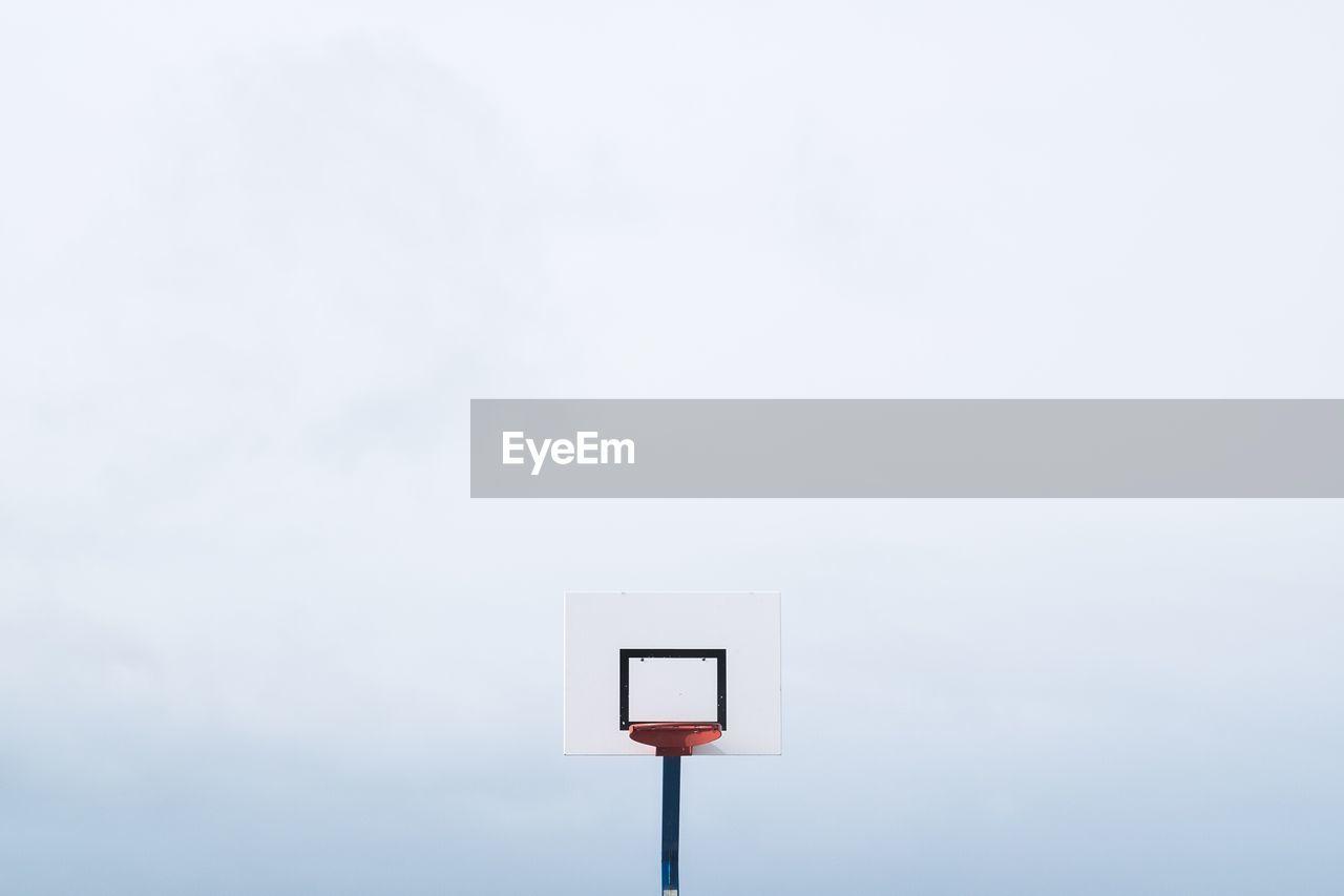 High Section Of Basketball Hoop