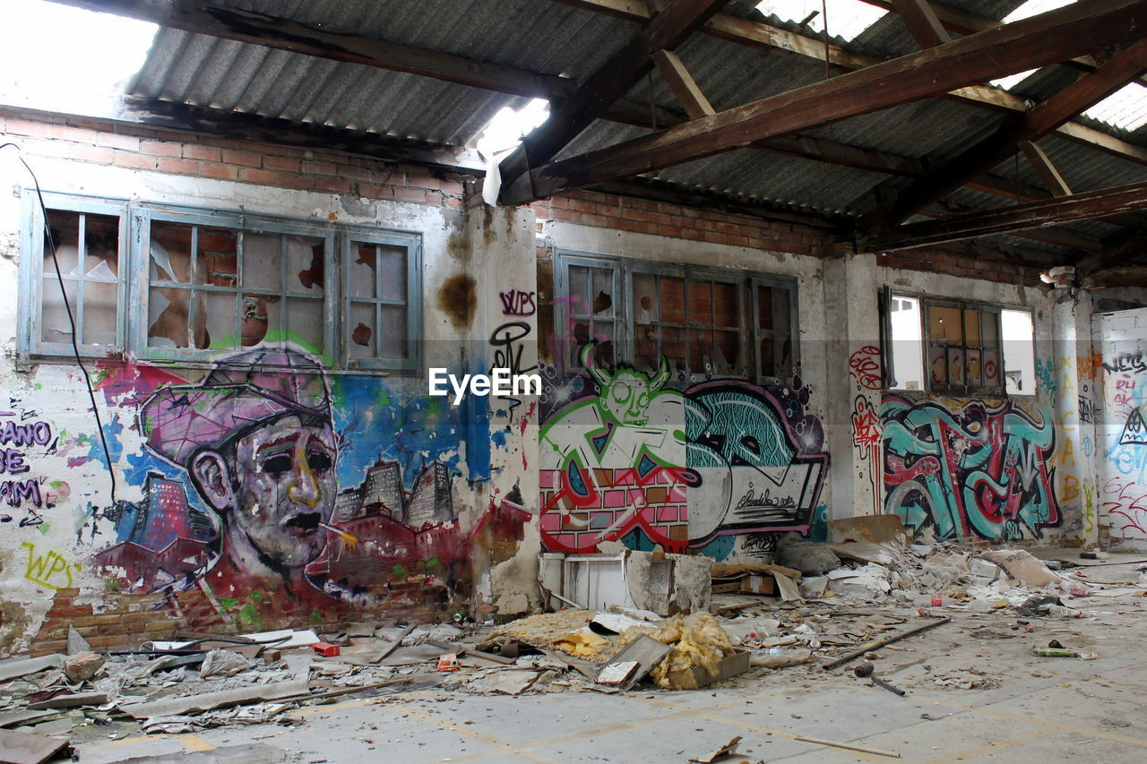 graffiti, abandoned, destruction, architecture, built structure, place, no people, desolate, indoors, day