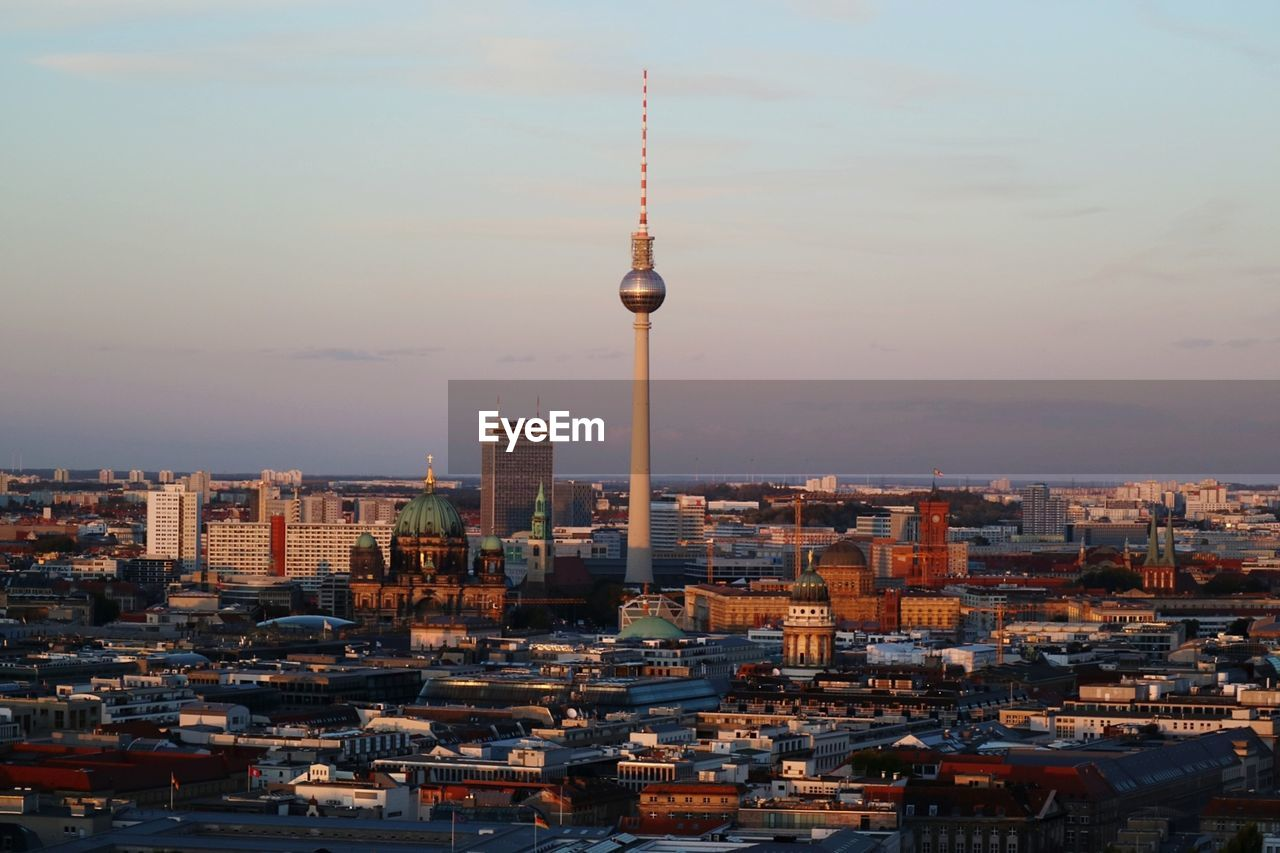 Fernsehturm amidst cityscape