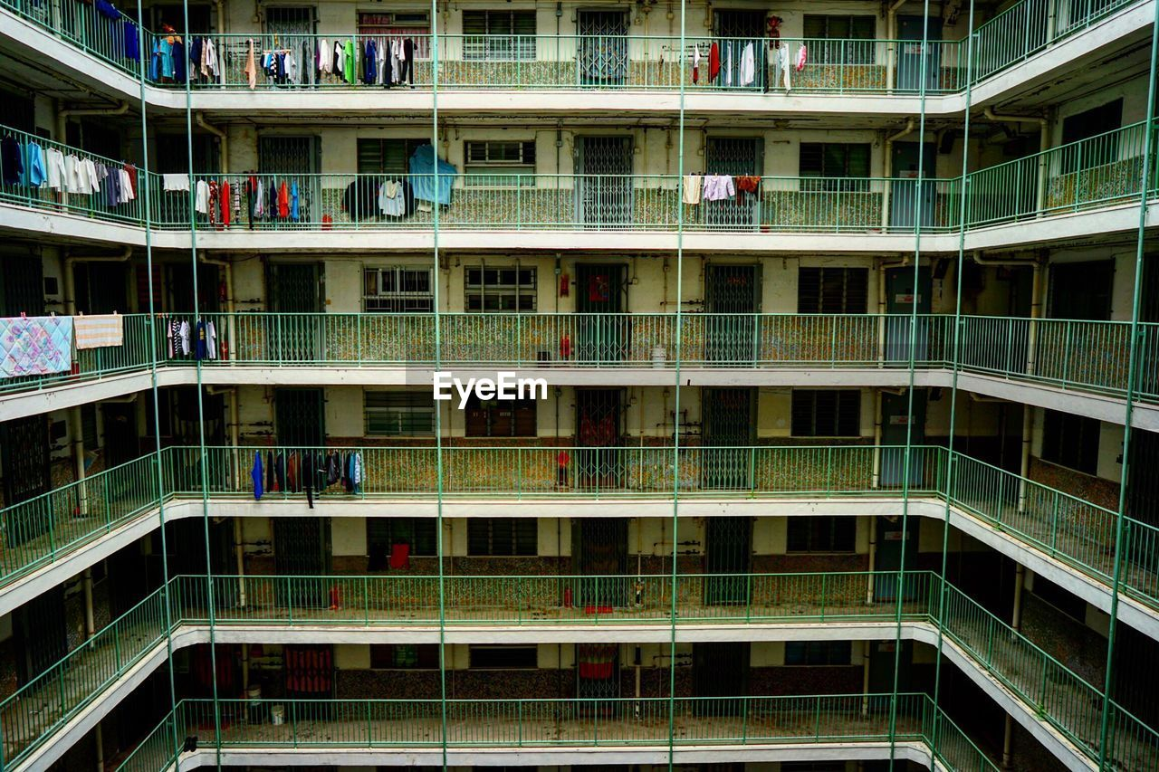 View of apartment building with balconies