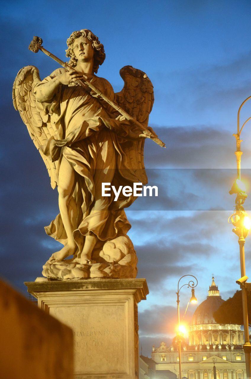 Statue Of Angel At Saint Angel Bridge In Rome