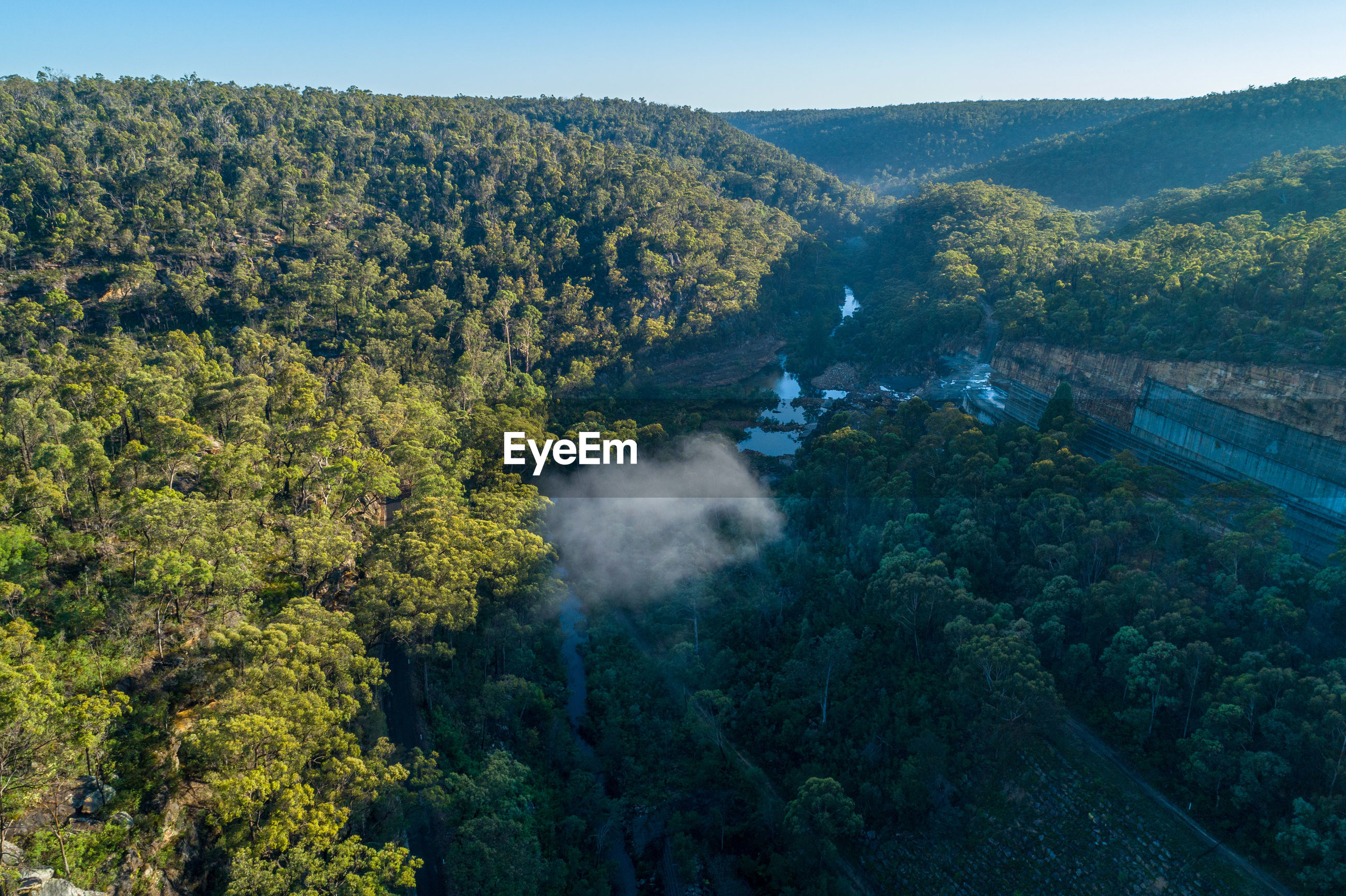 Forested hills near nepean dam. bargo, new south wales, australia