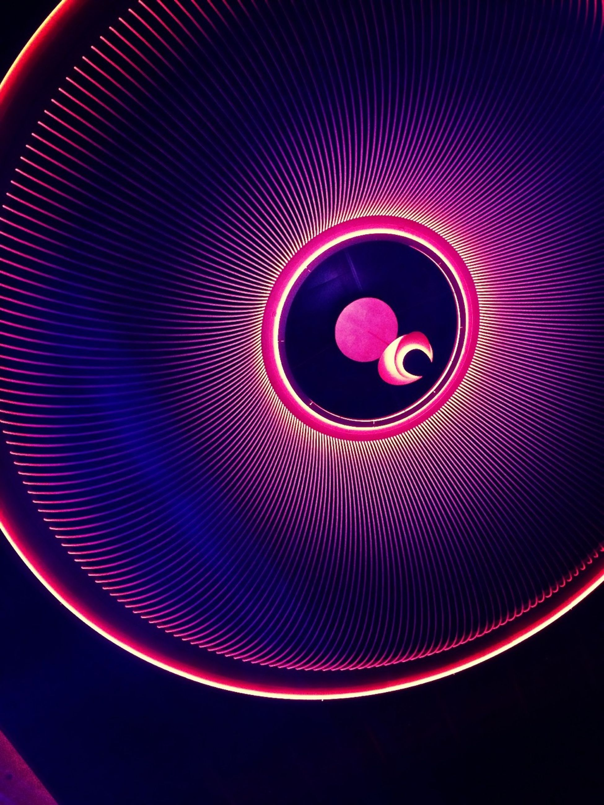 indoors, circle, pattern, illuminated, close-up, geometric shape, abstract, multi colored, no people, still life, directly above, design, lighting equipment, full frame, high angle view, shape, technology, glowing, drink, red