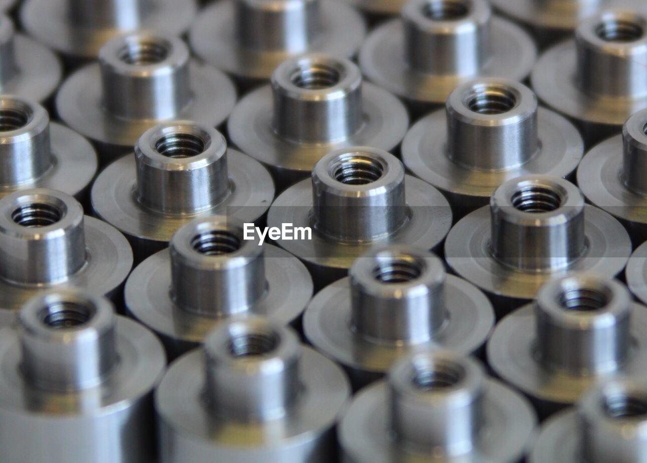 Full Frame Shot Of Nut Fasteners