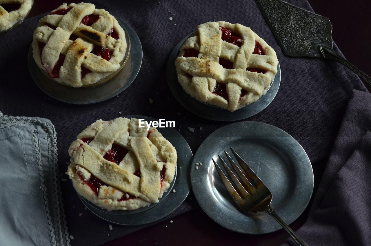 Close Up Of Mini Cherry Pies