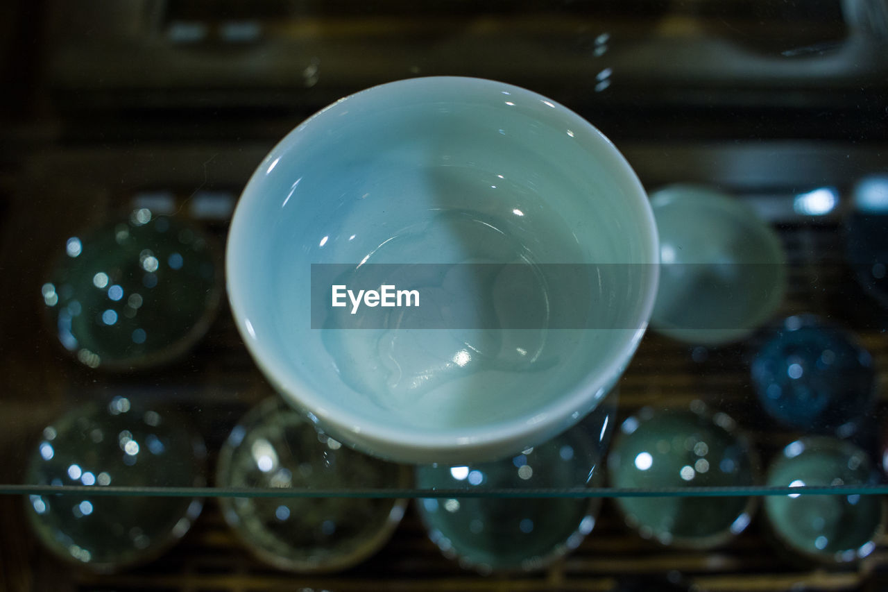 Close-up of empty bowl in kitchen