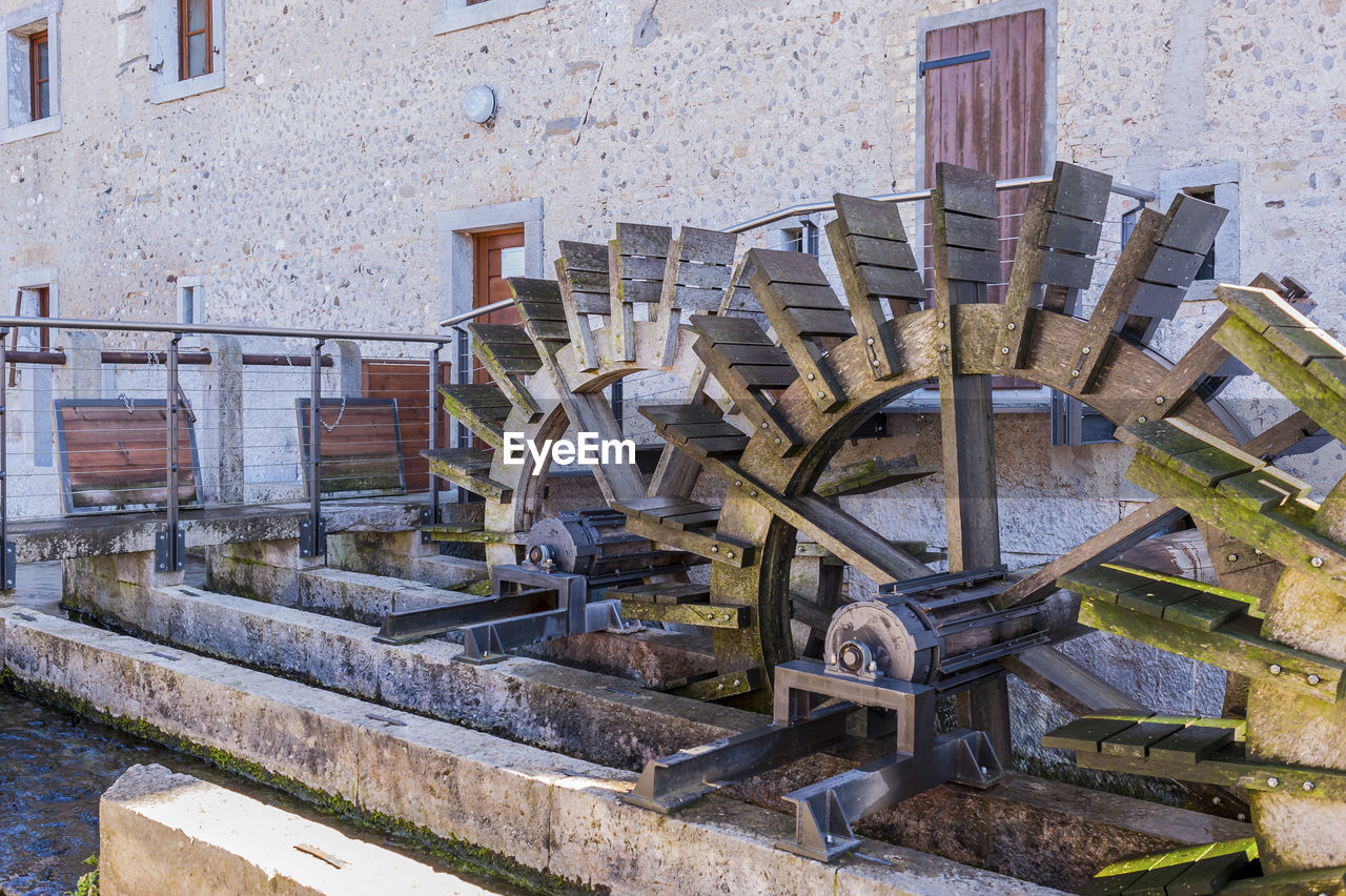 Wooden Water Wheels To Generate Hydroelectric Power