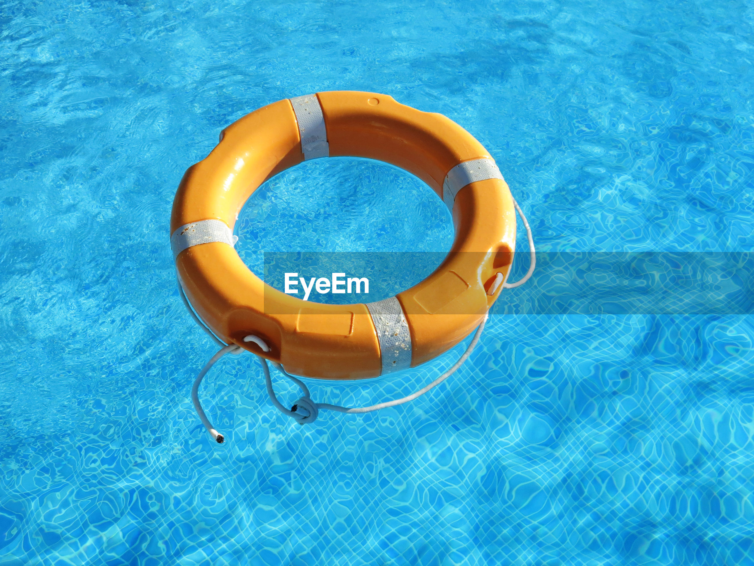 Close-up rubber ring in the pool