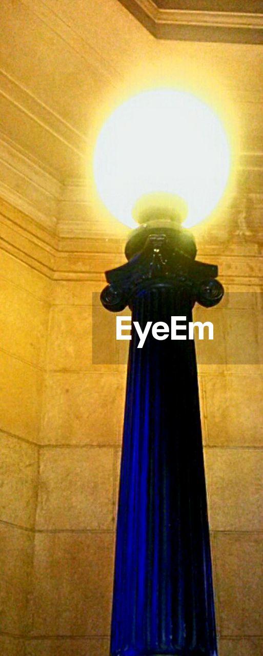 indoors, illuminated, celebration, night, statue, halloween, one person, people