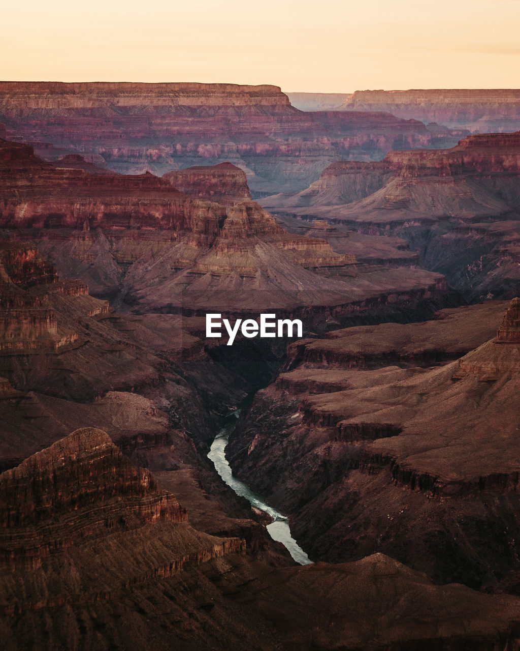 Scenic view of dramatic grand canyon  landscape during sunset