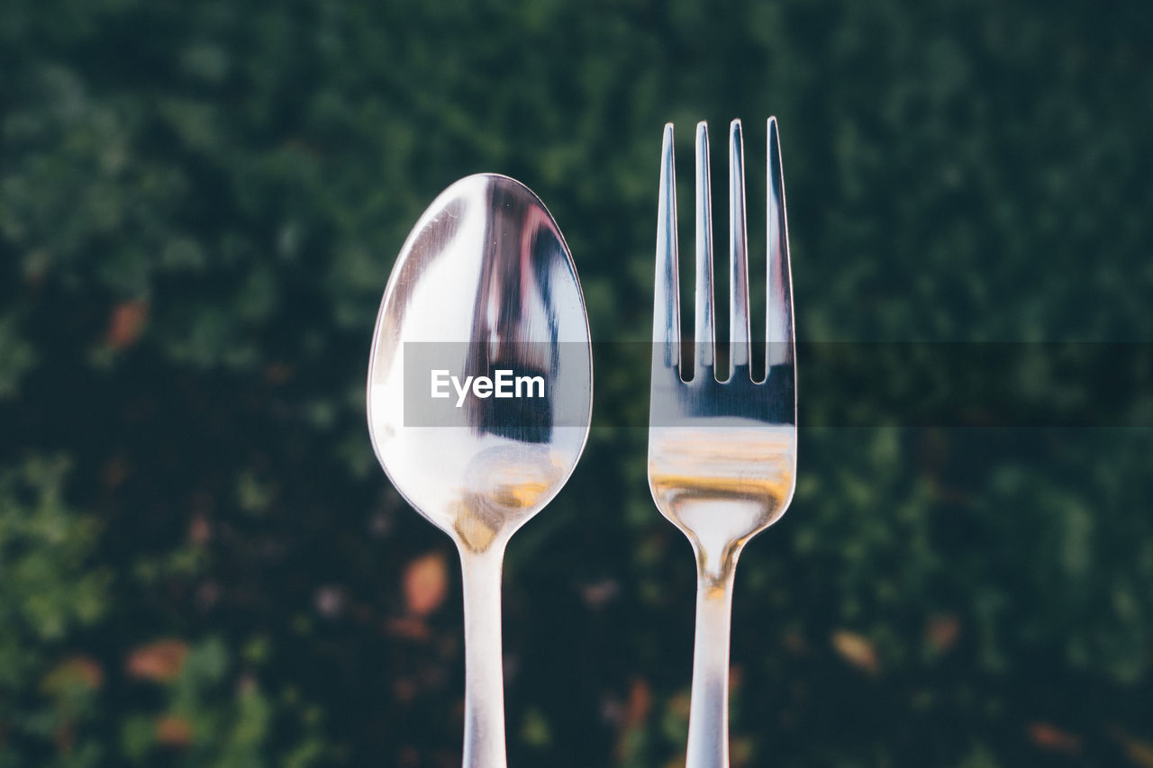 Close-Up Of Spoon And Fork