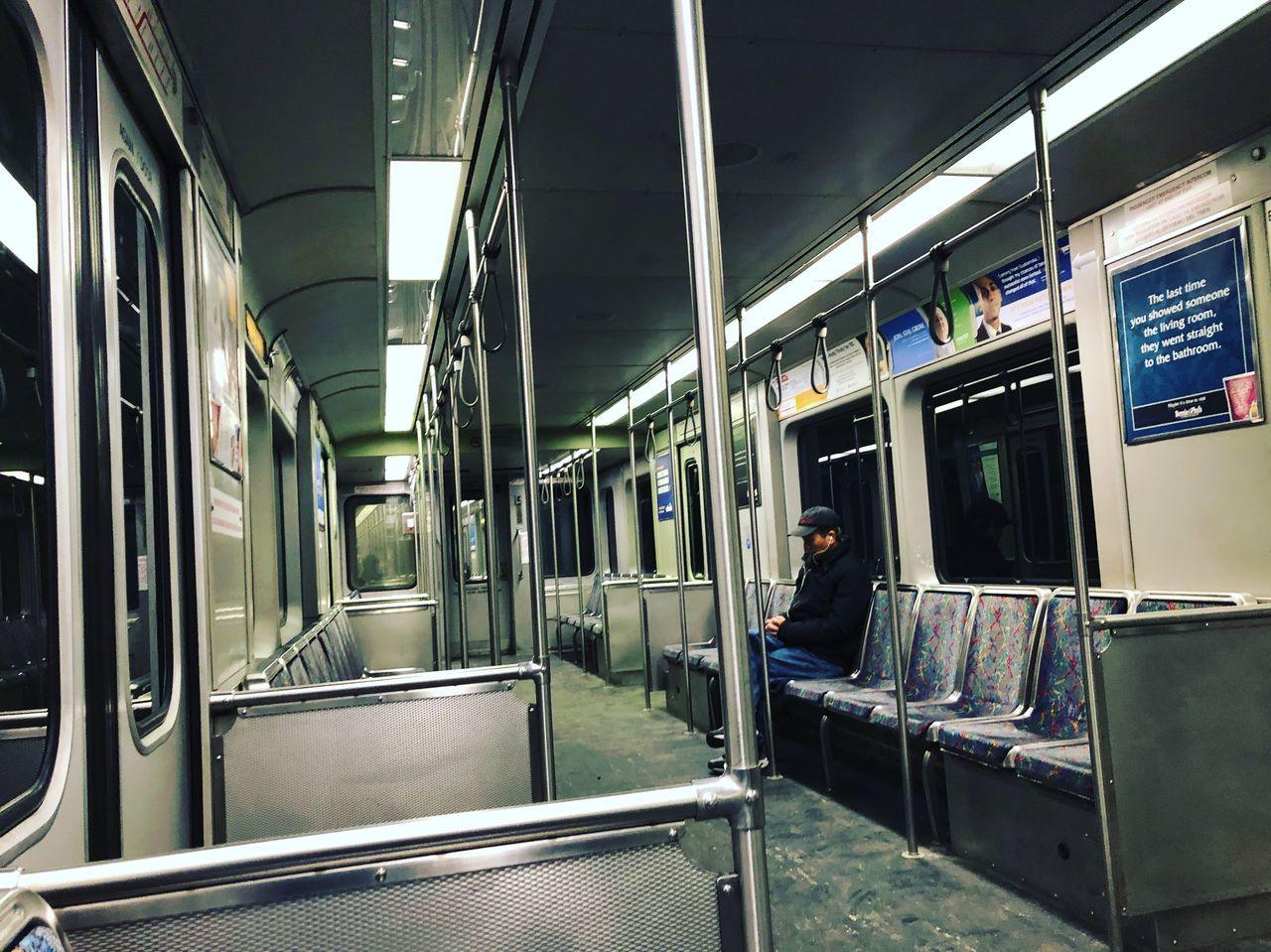 public transportation, transportation, train - vehicle, rail transportation, mode of transport, passenger train, illuminated, vehicle seat, no people, subway train, indoors, day