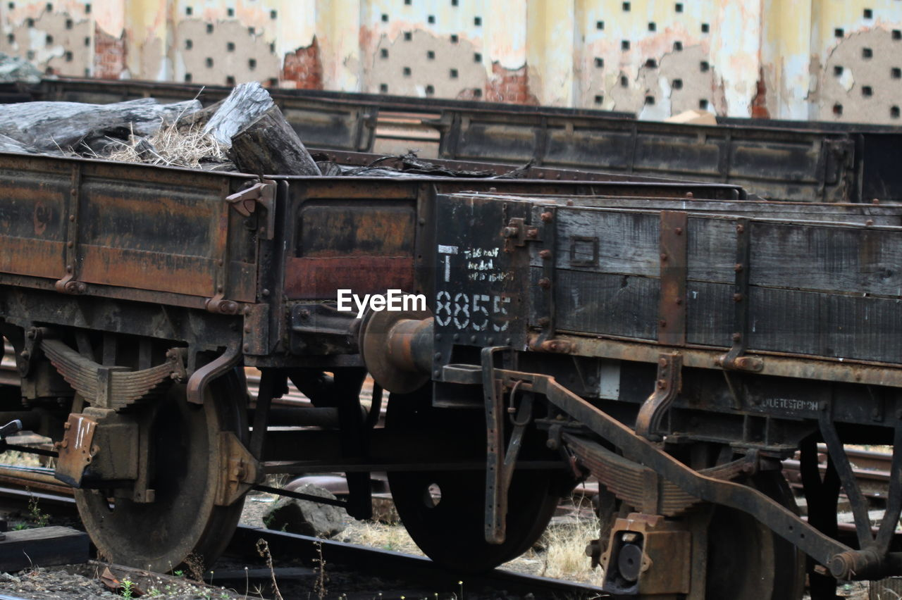 Close Up Of Railway Cars