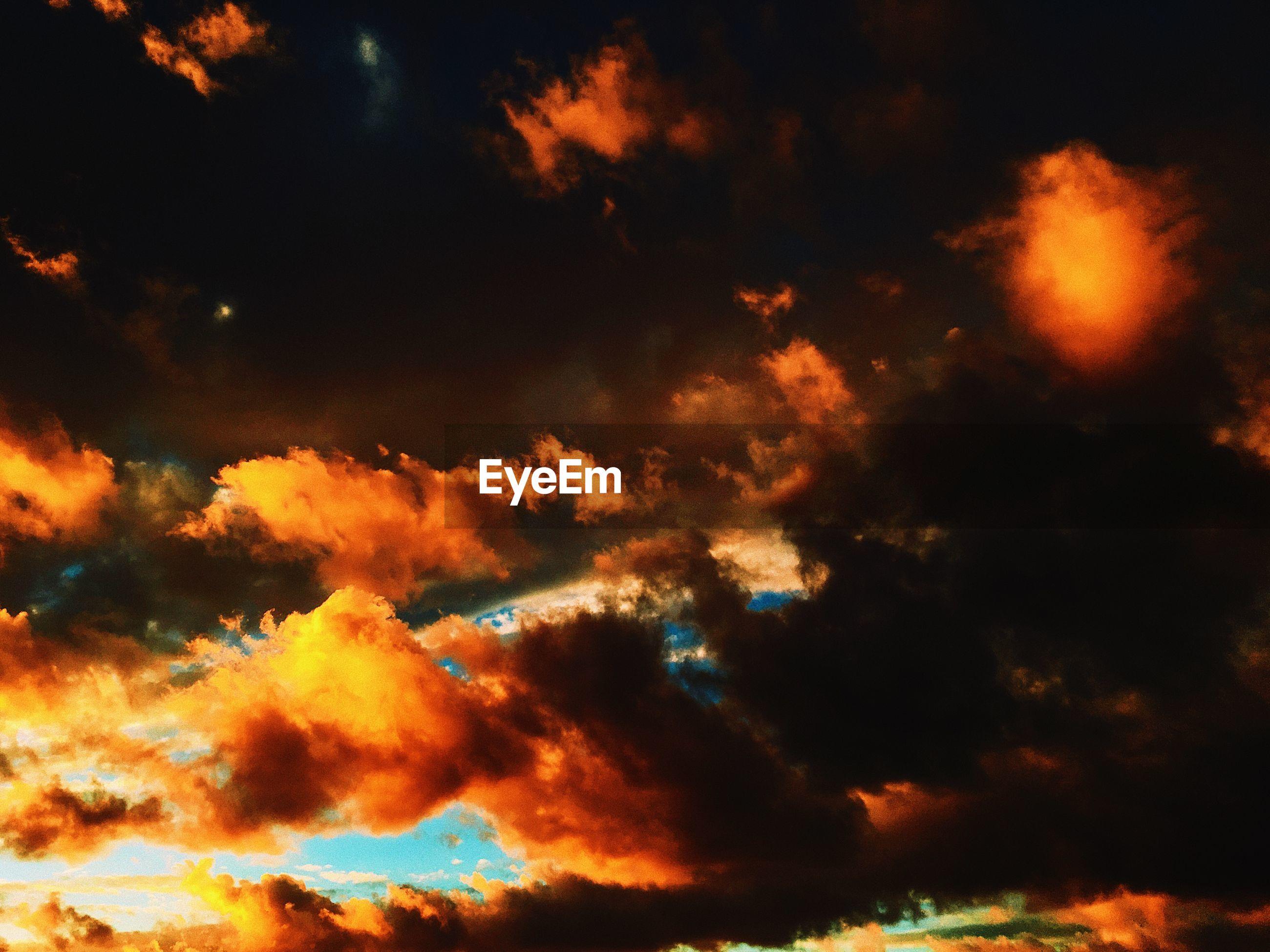 FULL FRAME SHOT OF SKY AT SUNSET
