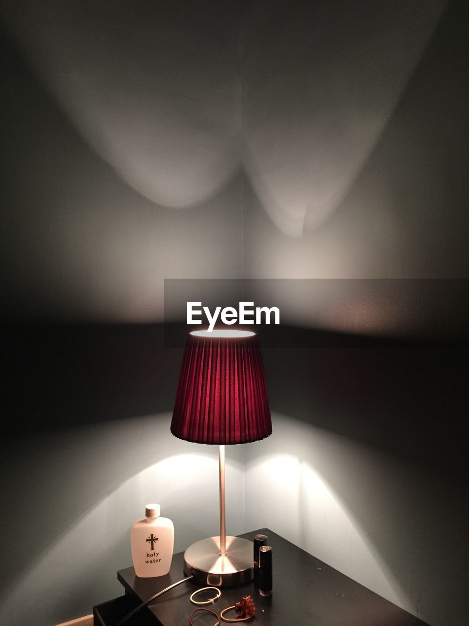 illuminated, lighting equipment, electric lamp, indoors, lamp shade, glowing, electricity, floor lamp, home interior, no people, curtain, night, close-up