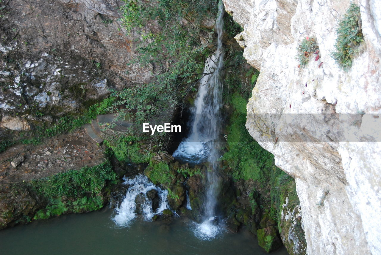 waterfall, rock - object, rock formation, nature, river, scenics, no people, water, beauty in nature, outdoors, day