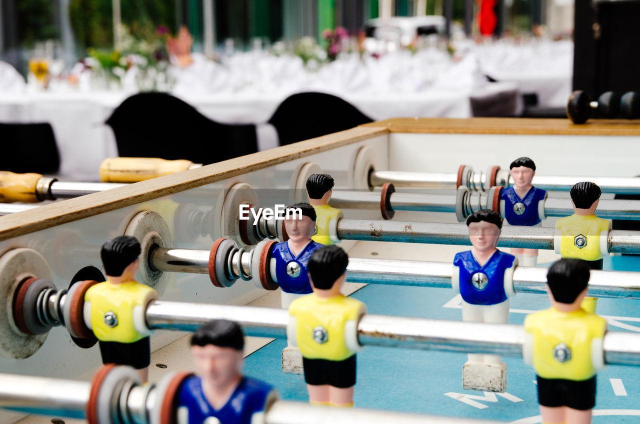 High Angle View Of Foosball Table