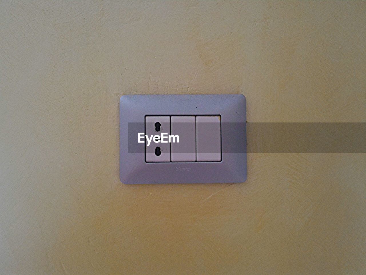 light switch, wall - building feature, indoors, electricity, switch, no people, close-up, day
