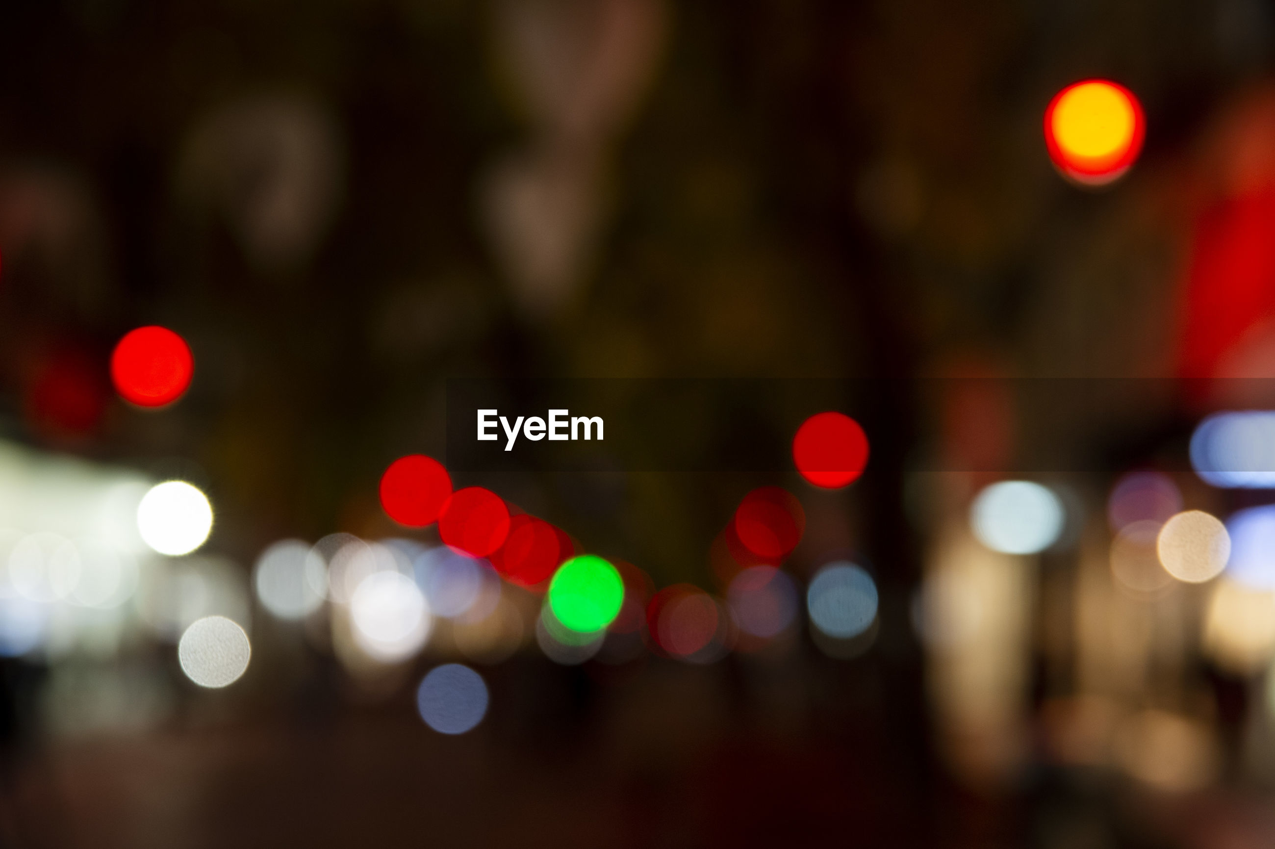DEFOCUSED LIGHTS AT NIGHT