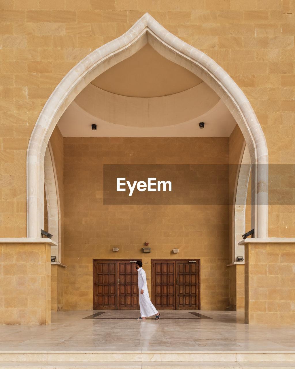 Man walking in mosque
